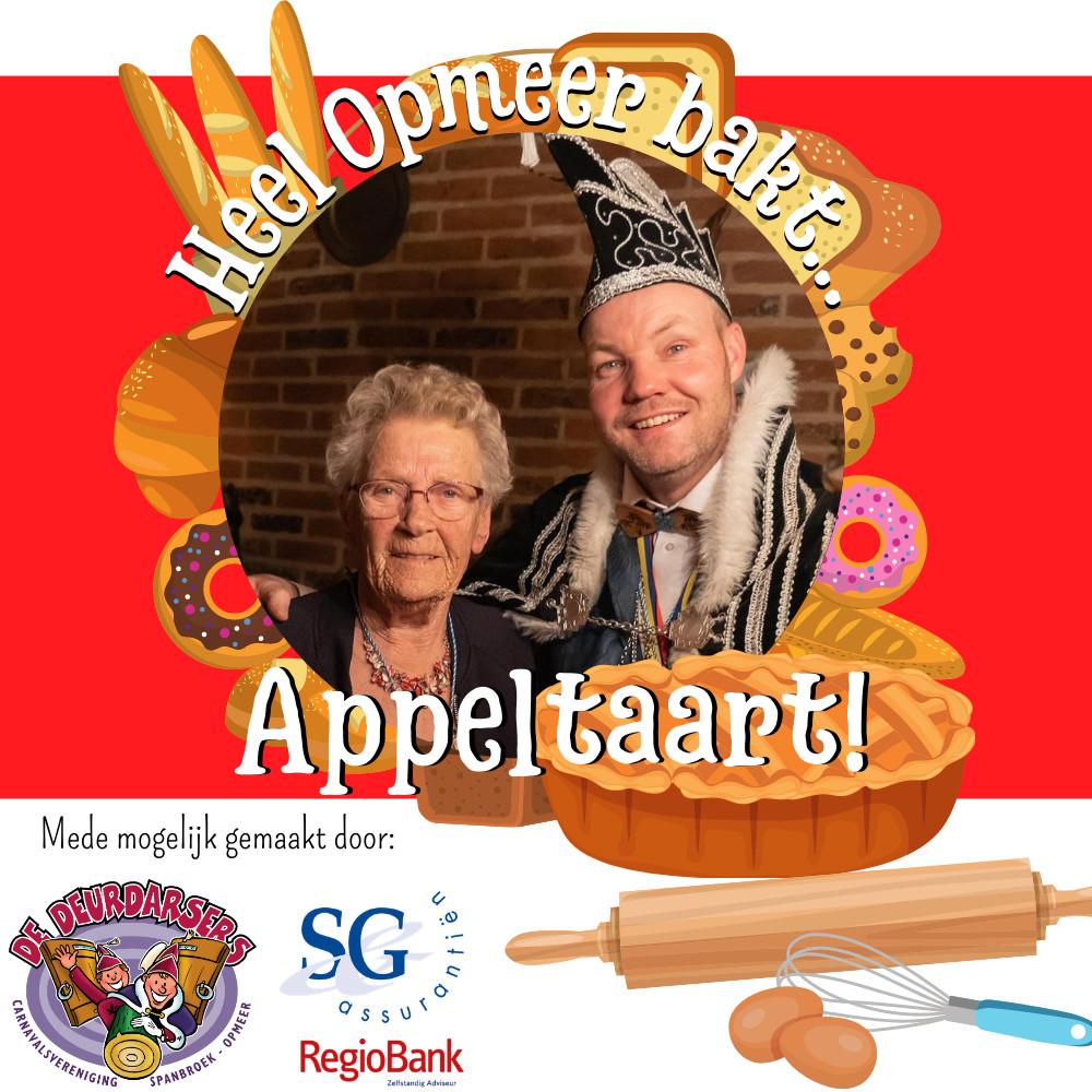 Heel Opmeer bakt appeltaart
